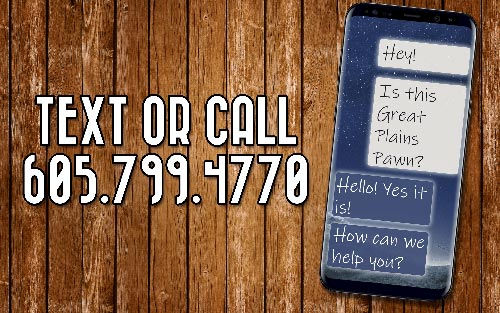 Great Plains Pawn Text Quoting
