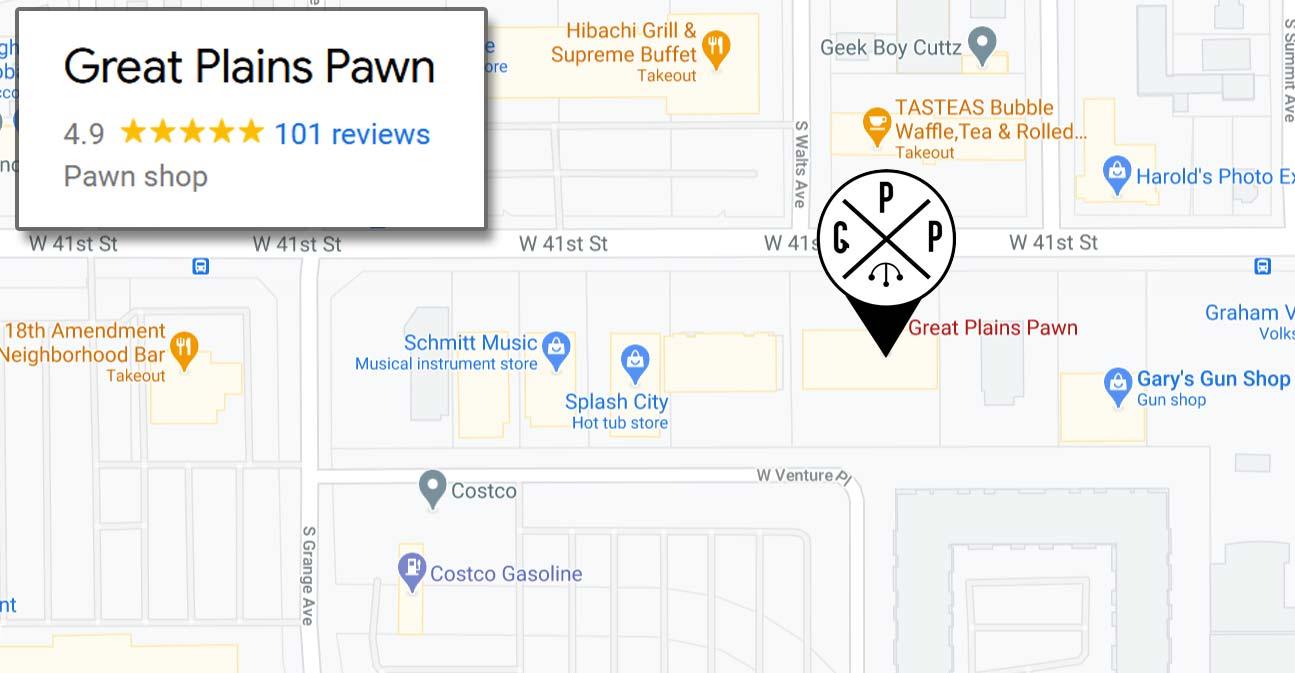 Pawn Shop Sioux Falls Great Plains Pawn Map
